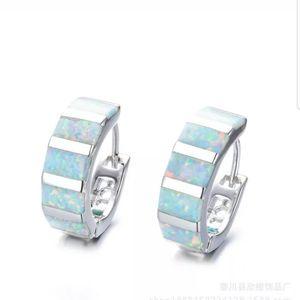 COPY - Women Silver Multicolor Opal dangle earrin…